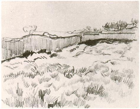 enclosed field  vincent van gogh  drawing