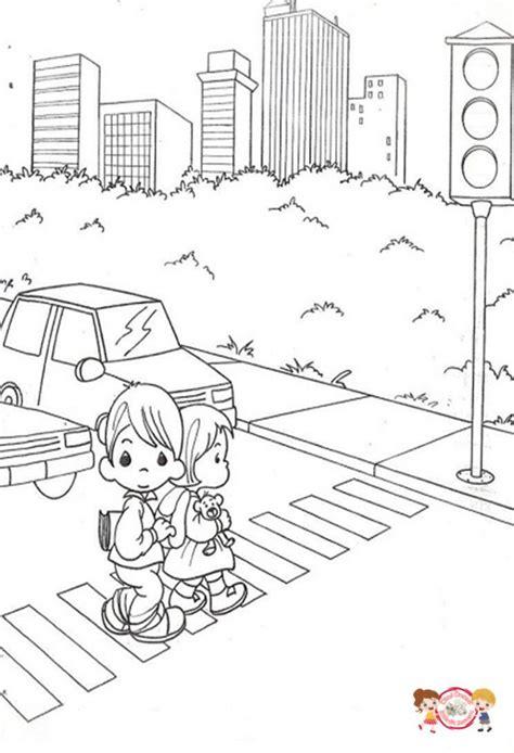 Trafik Işaretleri Boyama Okul öncesi Resimlere Göre Ara Red