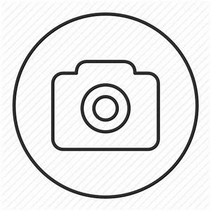 Camera, gallery, grey, photo, round, transparent icon ...