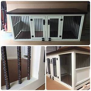 Original double dog kennel panier chien panier et mon chien for Indoor double dog kennel