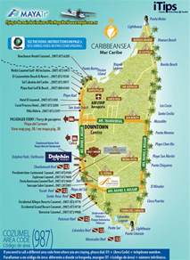 Map Cozumel Cancun Mexico