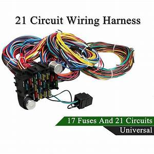 Universal 21 Circuit Wiring Harness For Chevy Mopar Ford