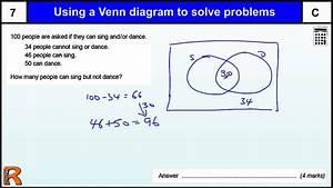 Venn Diagram To Solve Problems  Gcse Maths Revision Exam Paper Practice