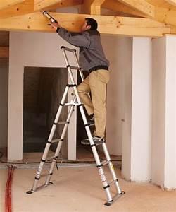 Leiter Für Treppenstufen : teleskopleiter kombileiter treppenhausleiter steht auf ~ A.2002-acura-tl-radio.info Haus und Dekorationen