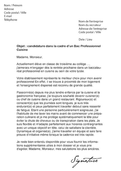lettre de motivation 3eme prepa pro