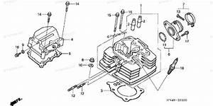 Honda Atv 2006 Oem Parts Diagram For Cylinder Head