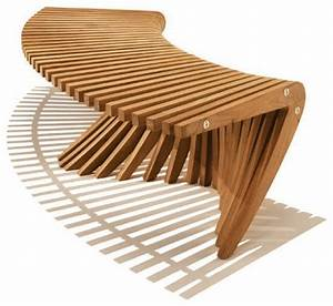 Windsong curved backless bench