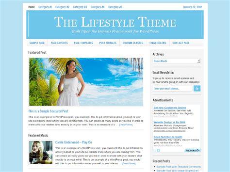 Free Genesis Child Themes Lifestyle Theme Free Genesis Child Theme