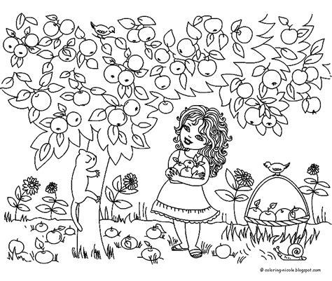 Kleurplaten Appelboom by Jaargetijden Zomer Kleurplaten Appelboom