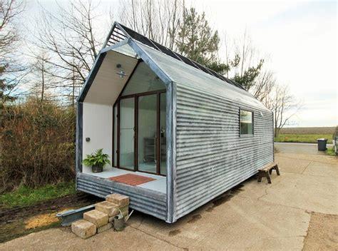 kitchen island length mini cabin by contemporary shepherds huts tiny living