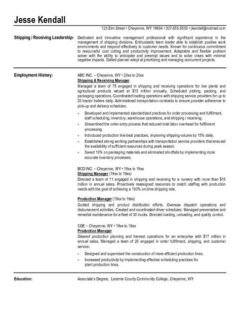 Warehouse Clerk Resume Sles by Shipping Clerk Resume Sales Clerk Lewesmr