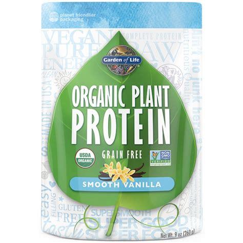 garden of protein garden of organic plant protein 10 oz powder vanilla