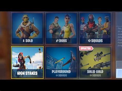 fortnite update    high stakes gamemode