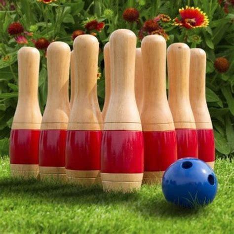 Backyard Bowling Set by Outdoor Bowling Set Wooden Garden Lawn Backyard