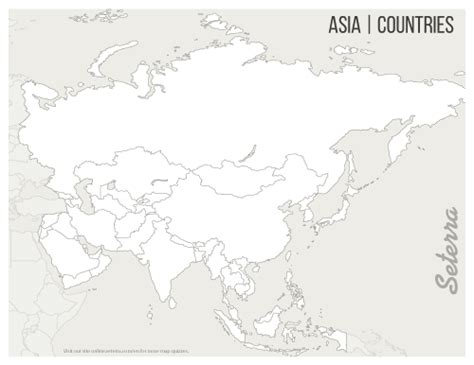 asia countries printables map quiz game