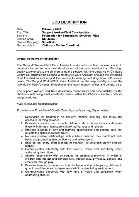 child care worker description for resume click image 875 | 5162aff918f1164b645736fc6fc570c4