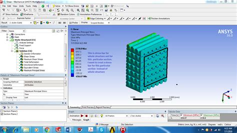 generate stress graph  section  ansys workbench