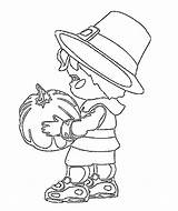 Coloring Pilgrim Thanksgiving Printable Lots Even Central sketch template