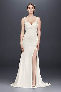 2018 spring new tank v neck long lace appliqued wg3874 With wedding dresses california