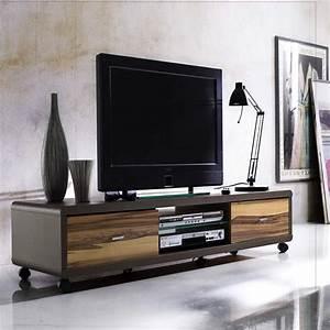 Tv Lowboard Mit Tv Halterung : lowboard tv lowboard tv unterteil auf rollen in braun ~ Michelbontemps.com Haus und Dekorationen