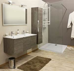 Sol Bois Salle De Bain : meuble salle de bain bois gris ~ Premium-room.com Idées de Décoration