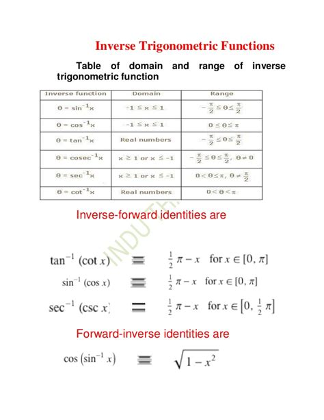 Inverse Trigonometric Functions Xii[1]