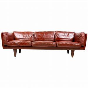 Illum Wikkelsø Sofa in Patinated Leather at 1stdibs