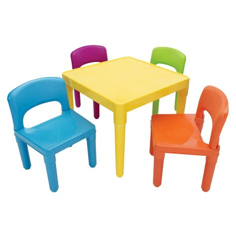 table and chair set tot tutors plastic table 4 chairs