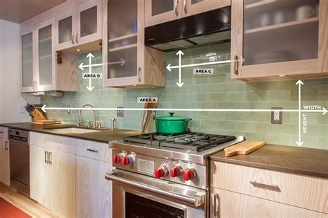 kitchen cabinet countertops how to measure your kitchen backsplash mercury mosaics 2440