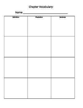 vocabulary worksheet template  ally dalessandro tpt
