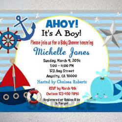 nautical themed bathroom ideas nautical boy baby shower invitation from dpiexpressions
