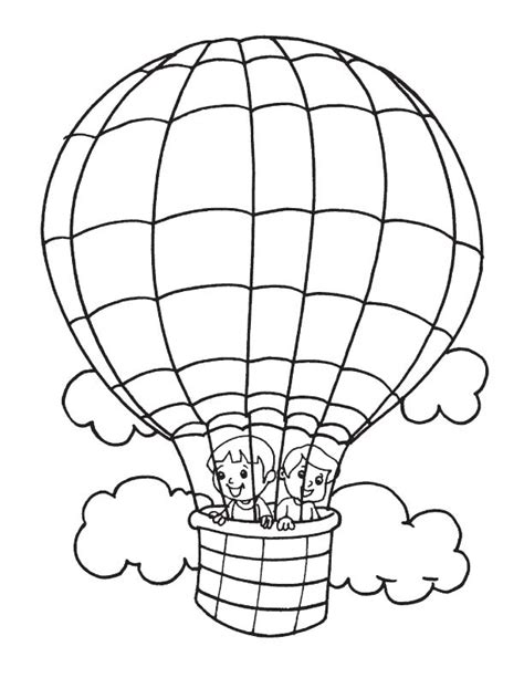 air balloon coloring pages  getcoloringscom