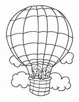 Balloon Coloring Air Printable Balloons Drawing Getcolorings Transportation Getdrawings Popular sketch template