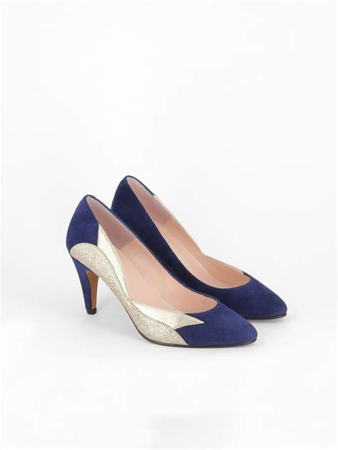 chaussure bleu marine mariage