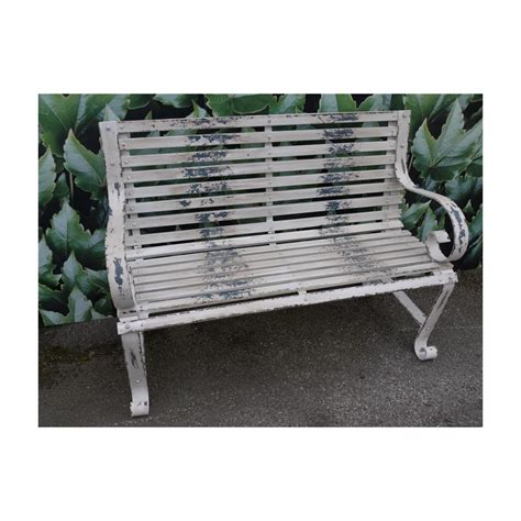 shabby chic bench shabby chic metal bench distressed swanky interiors