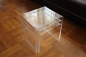 displaygifts ac tb1 clear acrylic nesting table coffee end With acrylic nesting coffee table