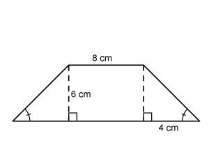 Diagram Of Trapezoid by What Is The Area Of The Trapezoid The Diagram Is Not