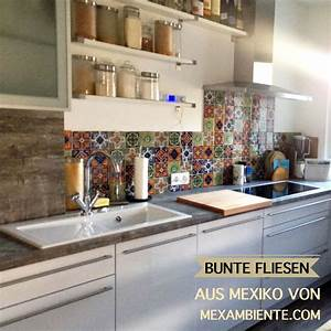 Fliesen Für Küche : bunte fliesen f r die k che mexikanische fliesen mit muster handbemalt wohnen k che ~ Orissabook.com Haus und Dekorationen