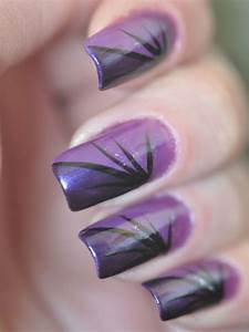 Latest purple nail art designs for trendy girls