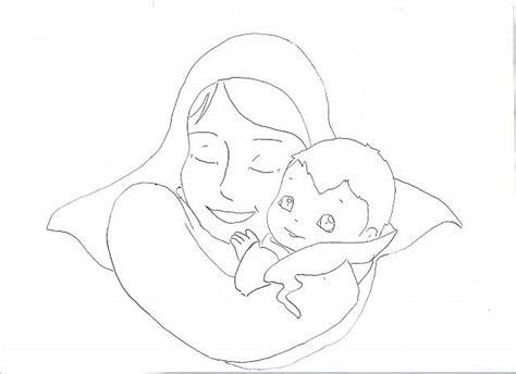 disegni madonna con bambino da colorare madonna con bambino disegni da colorare disegni da