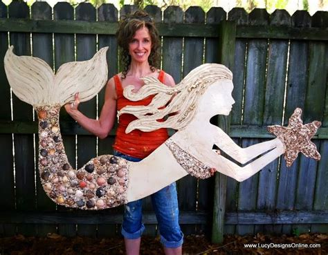 large wooden mermaid wall art  stained glass mosaic