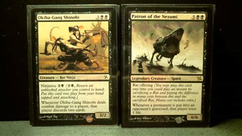 rat deck mtg modern betrayers of kamigawa theme deck rat s nest magic
