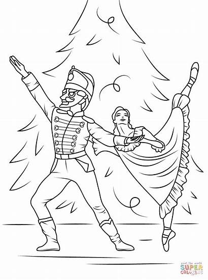 Coloring Pages Nutcracker Ballet Printable Drawing Paper