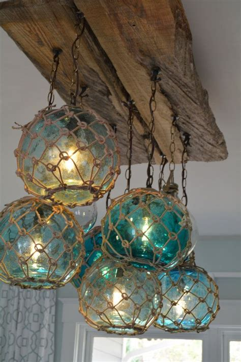 lake house chandeliers glass fishing float light fixture chandelier with 7