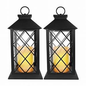Laterne Mit Led Kerze : 2er set led laterne kerze flackernd au en leuchte deko windlicht gartenlampe ebay ~ Orissabook.com Haus und Dekorationen