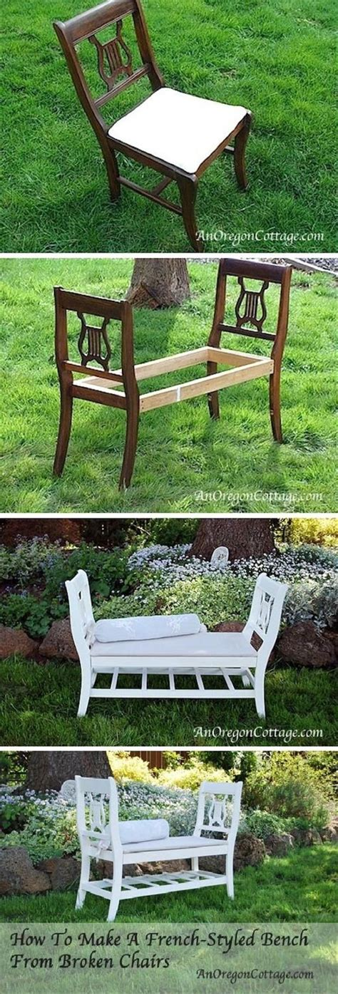 Bank Aus Alten Stühlen by How To Make A Styled Bench From Chairs Selber
