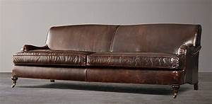 who manufactures restoration hardware leather sofas sofa With leather sectional sofa repair