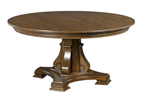 stellia 60 quot solid wood dining table with carved wood
