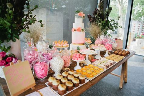 One Fine Day Pink dessert tables Quirky wedding Pink