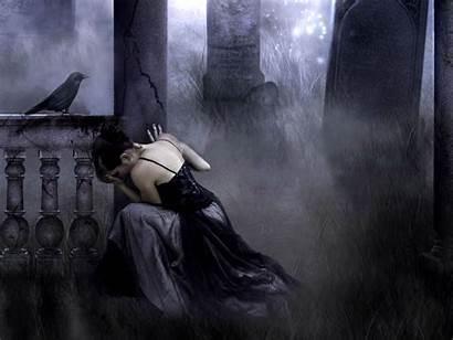 Gothic Dark Fantasy Wallpapers Background Raven Artwork